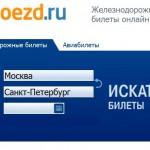 Сервис продажи ЖД билетов